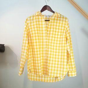 Old Navy Plaid Button Shirt Long Sleeve Summer